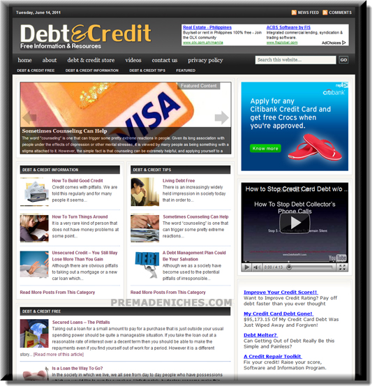 credit debt ready made website