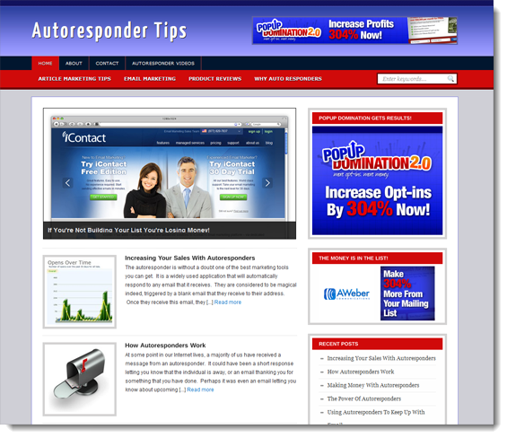 autoresponder ready made site