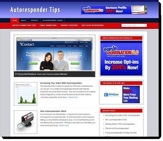 autoresponder ready made site