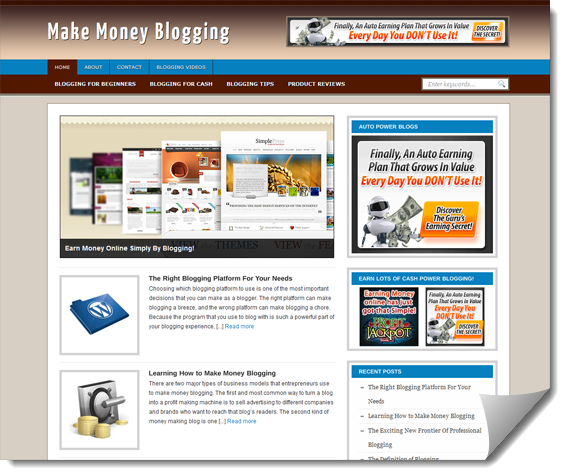 blogging ready made website