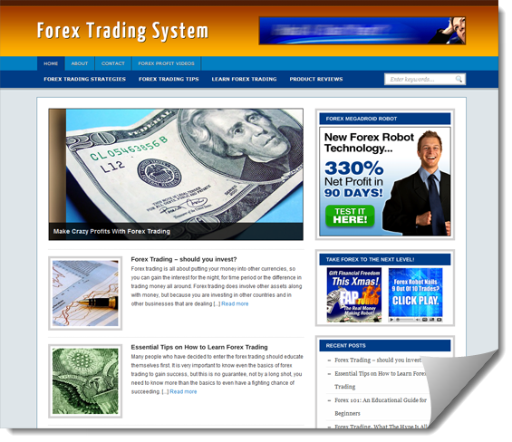 forex ready made website