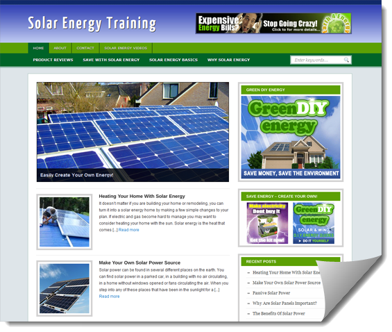 solar energy ready made site