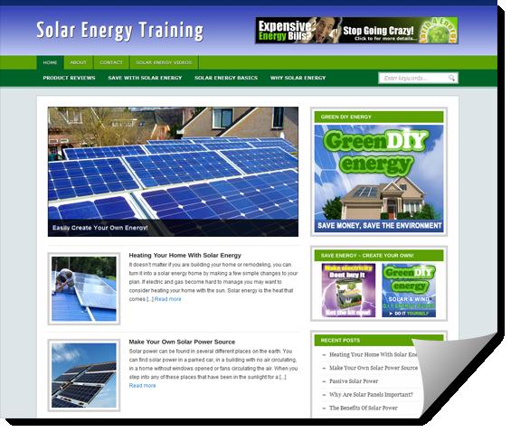 solar energy ready made site