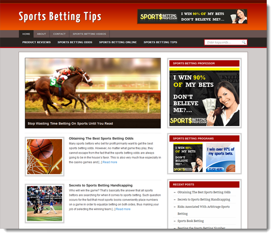 sports betting ready made blog